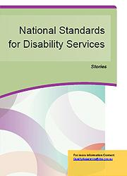 National Standards for Disability Services – Stories Page One