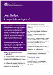 Budget Fact Sheet - Stronger Relationships