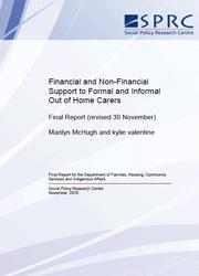 Financial and Non-Financial Support to Formal and Informal Out of Home Carers