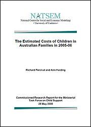 The Estimated Costs of Children in Australian Families in 2005-06