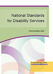 National Standards for Disability Services - Conversation Tool Page One