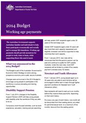 Budget Fact Sheet - Working age payments